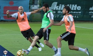 Qarabağ started preparetions of the match with Partizani