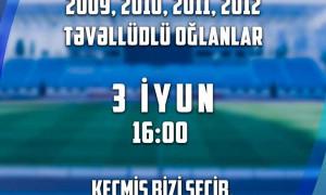 """""""Qarabağ"""" Futbol Akademiyasının qapıçı seçimləri keçiriləcək"""