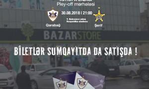 Biletlər Sumqayıtda da satışda !